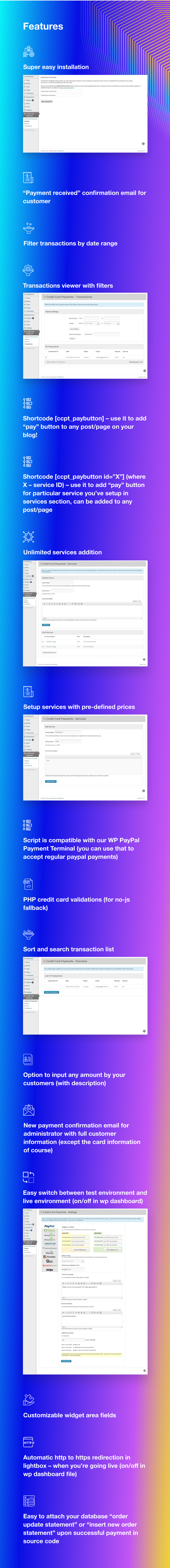 Credit Card Payments WordPress - 10